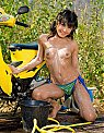 Nude Sexy Asian Babe with motorbike