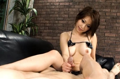 Japanese MILF handjob